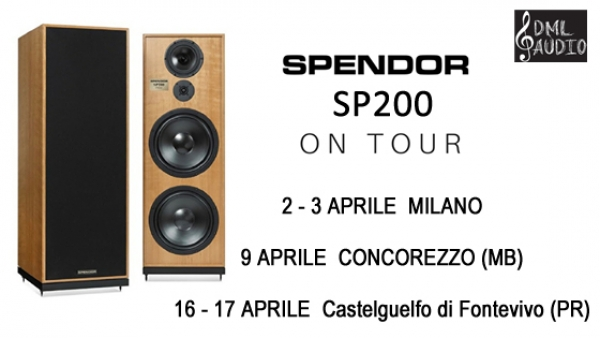 I nuovi diffusori Spendor top di gamma SP200 in tour
